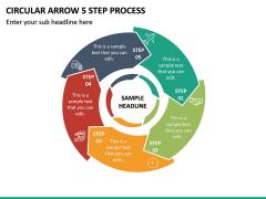 Circular Arrow 5 Step Process PPT Slide 2