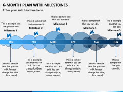 6 Month Plan With Milestones PPT Slide 1
