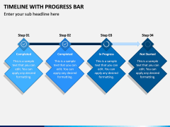 Timeline With Progress Bar PPT Slide 3