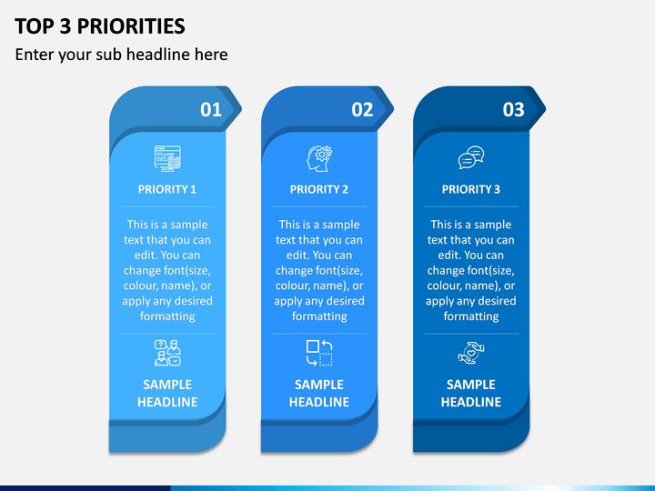 Top 3 Priorities PPT Slide 1