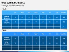 9/80 Work Schedule PPT Slide 2