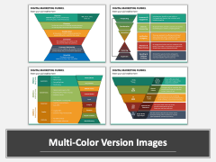 Digital Marketing Funnel PPT Multicolor Combined