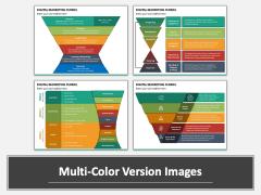 Digital Marketing Funnel PPT Multicolor Combined