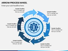 Arrow Process Wheel PPT Slide 5