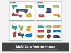 Folded Paper Multicolor Combined