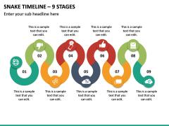 Snake Timeline - 9 Stages PPT Slide 2