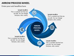 Arrow Process Wheel PPT Slide 8