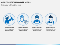 Construction Worker Icons PPT Slide 4