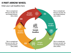 4 Part Arrow Wheel PPT Slide 2