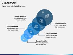 Linear Venn Diagram PPT Slide 3