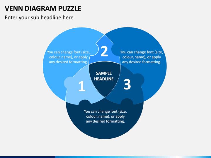 Venn Diagram Puzzle PPT Slide 1