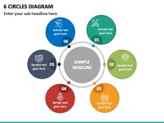 6 Circles Diagram - Free PPT Slide 2