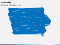 Iowa Map PPT Slide 2