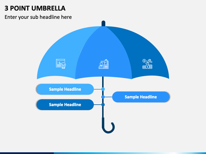 3 Point Umbrella PPT Slide 1