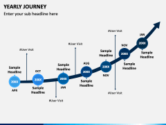 Yearly Journey PPT Slide 1