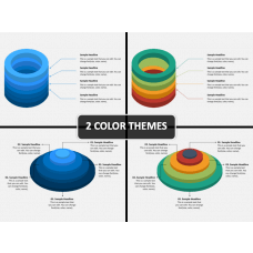 3D Circles PPT Cover Slide