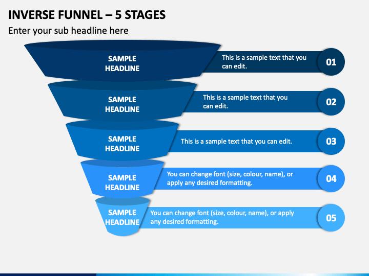 Inverse Funnel 5 Stages Slide 1