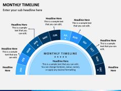 Monthly Timeline PPT Slide 1