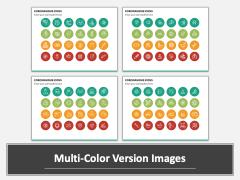 Coronavirus Icons Multicolor Combined