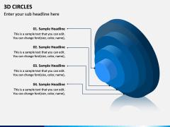 3D Circles PPT Slide 7