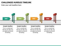 Challenges Hurdles Timeline PPT Slide 4