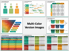 3 Year Business Plan Multicolor Combined