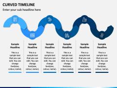 Curved Timeline PPT Slide 4