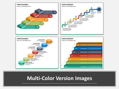 Stairs Roadmap Multicolor Combined