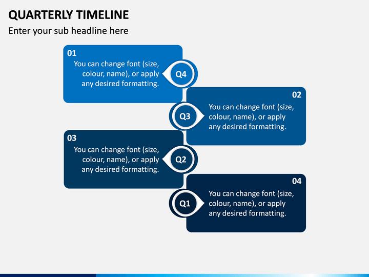 Quarterly Timeline PPT Slide 1