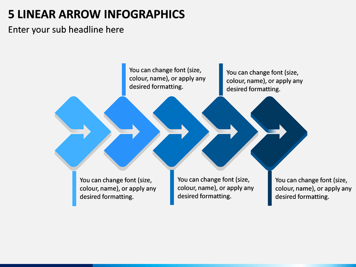 5 Linear Arrow Infographics PPT Slide 1