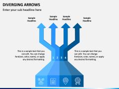 Diverging Arrows PPT Slide 5