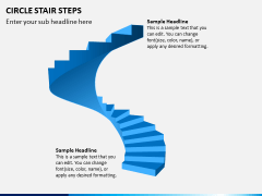 Circle Stair Steps PPT Slide 1
