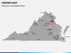 Virginia Map PPT Slide 3