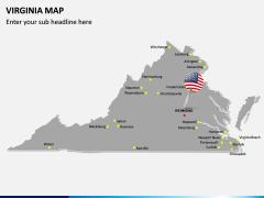 Virginia Map PPT Slide 3