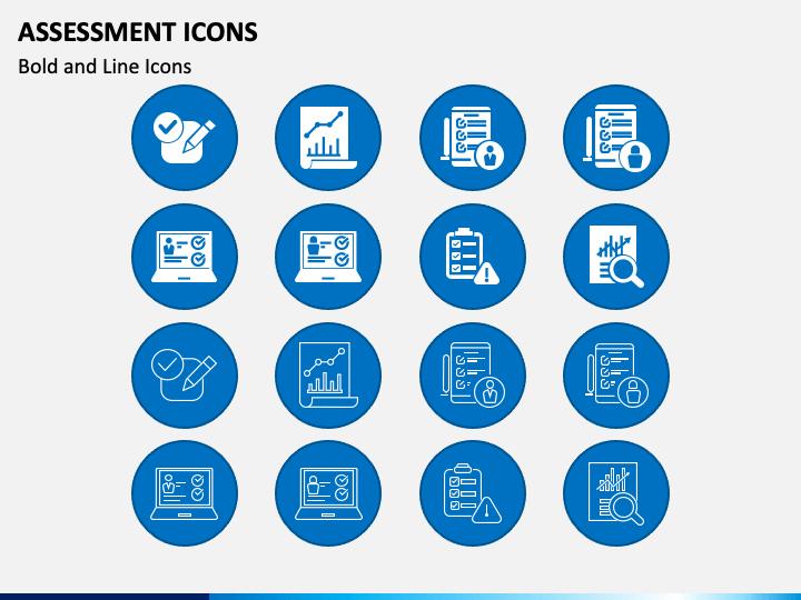 Assessment Icons PPT Slide 1