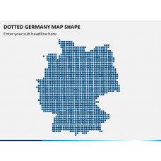 Dotted Germany Map PPT Slide 1