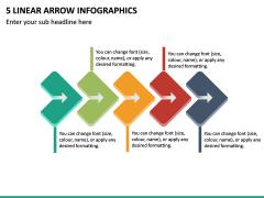 5 Linear Arrow Infographics PPT Slide 2