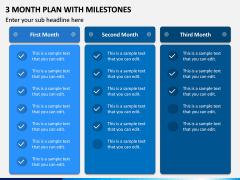 3 Month Plan with Milestones PPT Slide 3