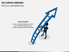 3D Curved Arrows PPT Slide 7
