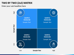 Two By Two (2x2) Matrix PPT Slide 2