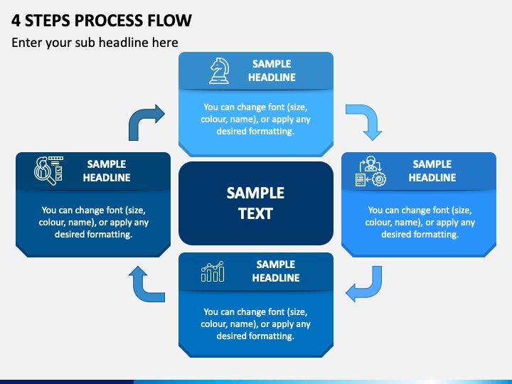 4 Steps Process Flow PPT Slide 1