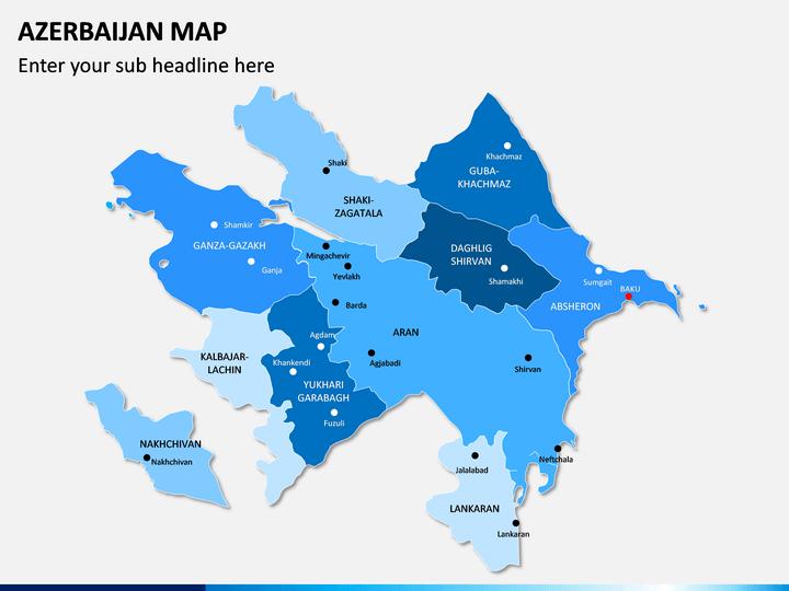 Azerbaijan Map PPT Slide 1