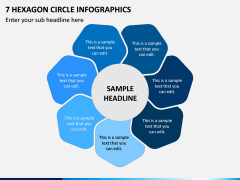 7 Hexagon Circle Infographics PPT Slide 1