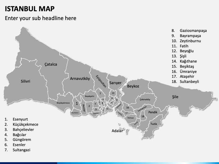 Istanbul Map PPT Slide 1