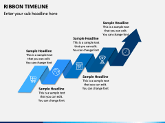 Ribbon Timeline PPT Slide 2