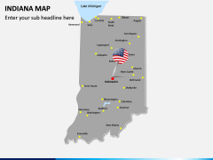 Indiana Map PPT Slide 3