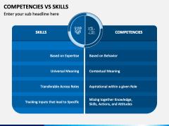 Competencies Vs Skills PPT Slide 1