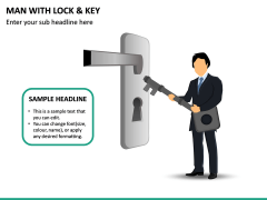 Man With Lock & Key PPT Slide 2