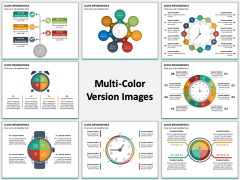 Clock Infographics Multicolor Combined