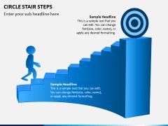 Circle Stair Steps PPT Slide 7